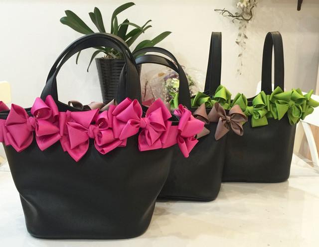 リボン付きカゴバッグの注文は「ftakako」エフタカコへ~プレゼントにもおすすめ!通販にてご自宅へお届け~
